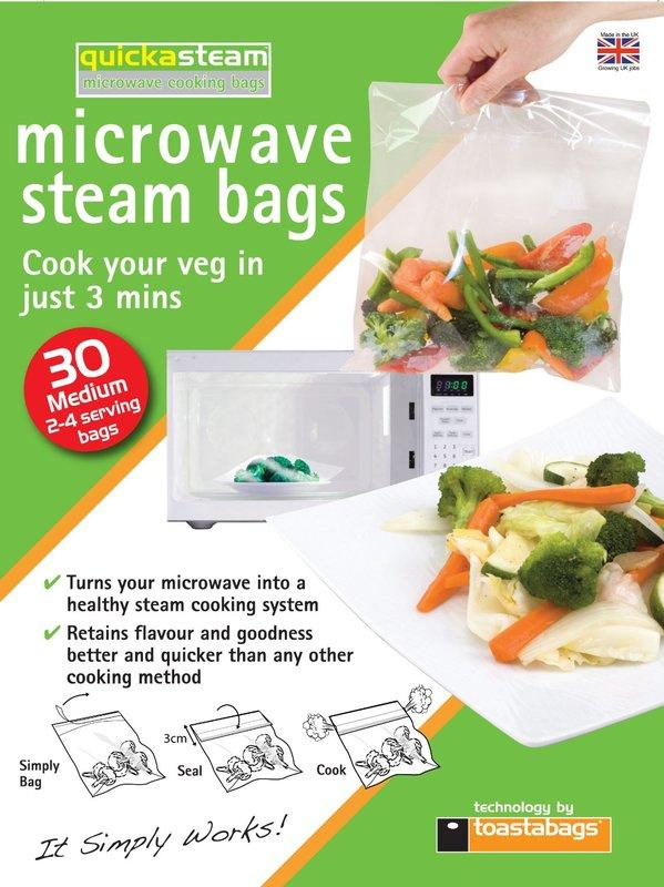 Quickasteam Mircowave Cooking Bags Medium (30 Pack)