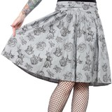 Sourpuss Love Crafty Swing Skirt (Small)