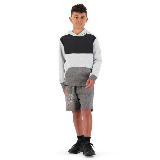 Canterbury: Boys Cotton Short - Black Grey Marl (Size 14)