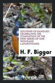 Souvenir of Banquet by H F Biggar image