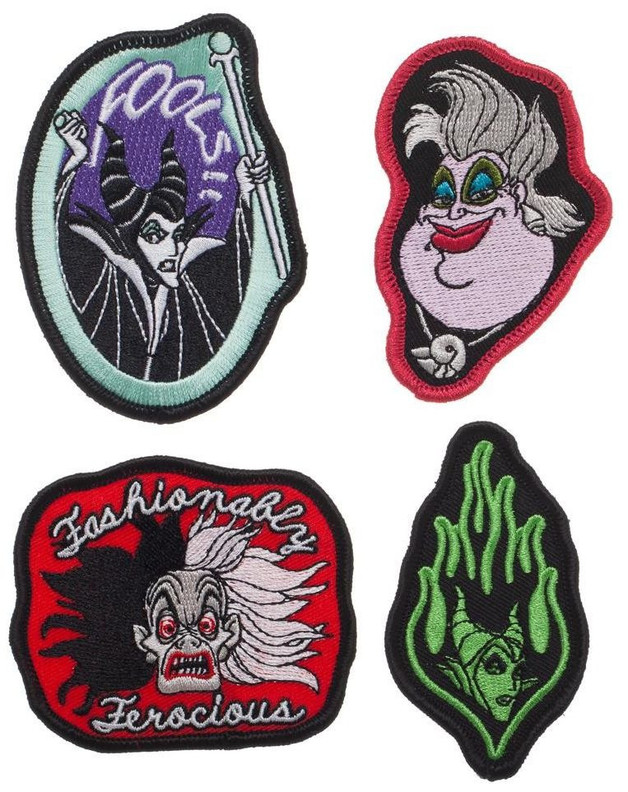 Disney: Villains - Embroidered Patch Set (Set of 4)