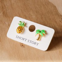 Short Story: Funky Play Earrings - Pineapples