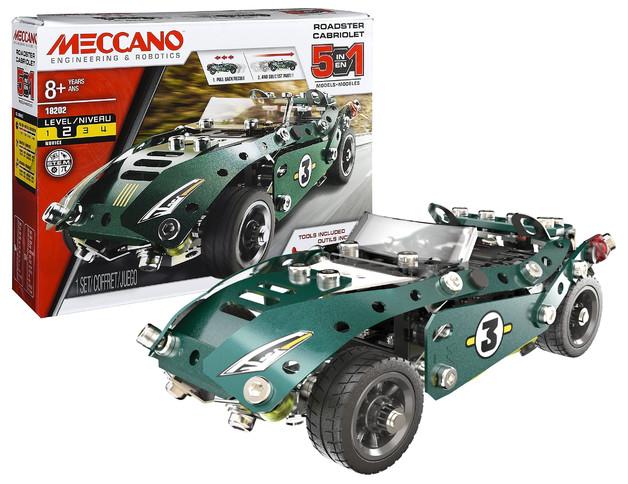 Meccano: 5-in-1 Roadster Pull Back Car
