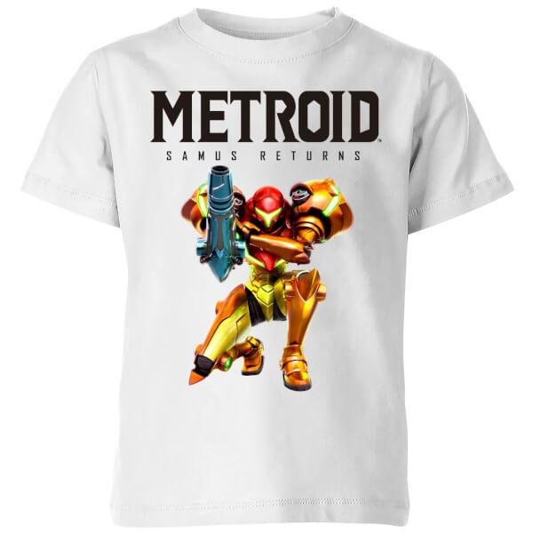 Nintendo Metroid Samus Returns Colour Kids' T-Shirt - White - 7-8 Years image