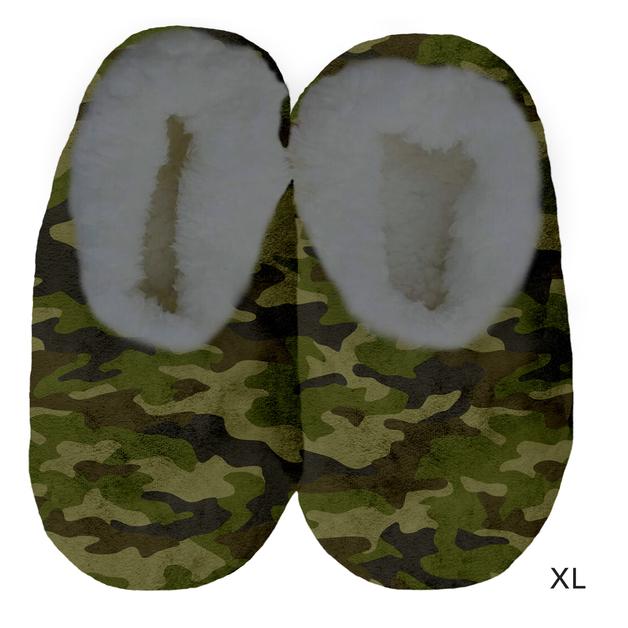 Sploshies: Men's Velvet Slippers - Green Camo (X-Large)