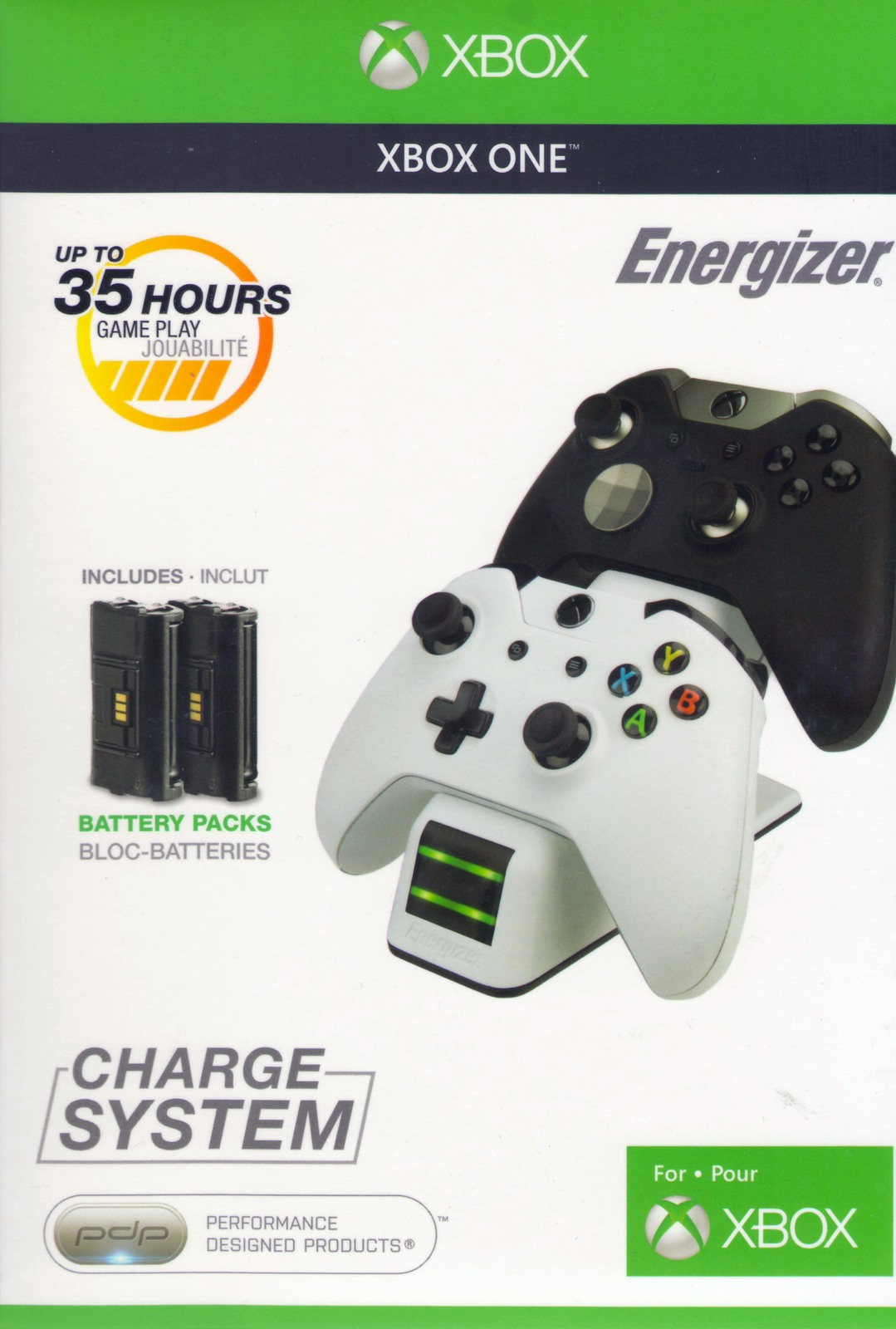 New Energizer Charging System - White for Xbox One image