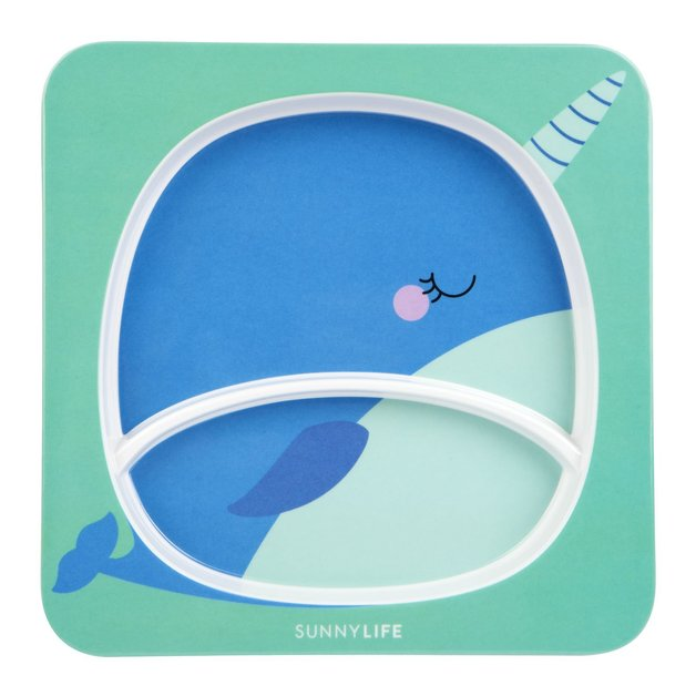 Sunnylife Kids Plate - Narwhal