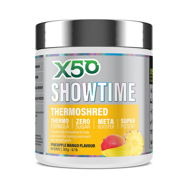 X50 Showtime: Thermoshred - Pineapple Mango (303g)