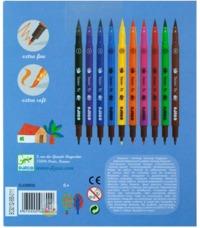 Djeco: Design - 10 Felt Brushes - Classic
