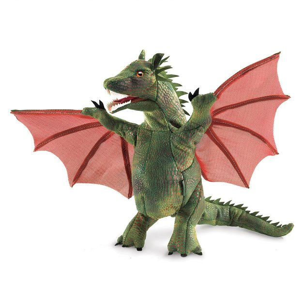 Folkmanis Hand Puppet - Winged Dragon
