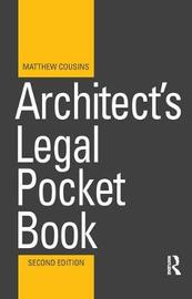 Architect's Legal Pocket Book by Matthew Cousins image