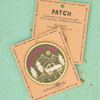 Natural Life: Restickable Patch Fabric - Lets Just Go