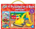 4 Puzzles in a Box Vehicles by Galt
