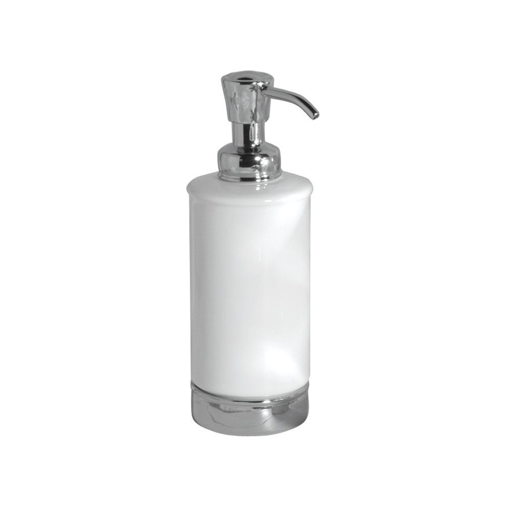 Interdesign york ceramic soap dispenser white at for Inter designs