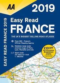 AA Easy Read Atlas France 2019 by AA Publishing