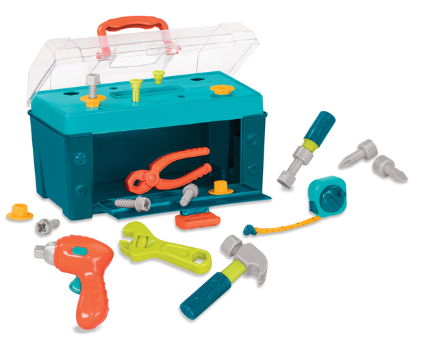 Battat: Busy Builders - Tool Box (Assorted Colours)