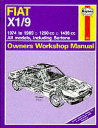 Fiat X1/9 1974-89 Owner's Workshop Manual by J.H. Haynes image