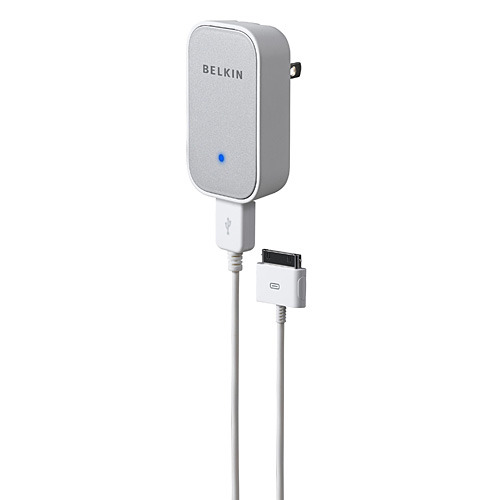 Belkin USB AC Wall Charger with 4' iPod Charging Cable image