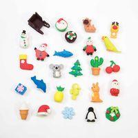 Erase It! Christmas Advent Calendar with Mini Novelty Erasers image
