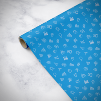 Gorilla Gift: Wrapping Paper - Birthday Blue (2m)