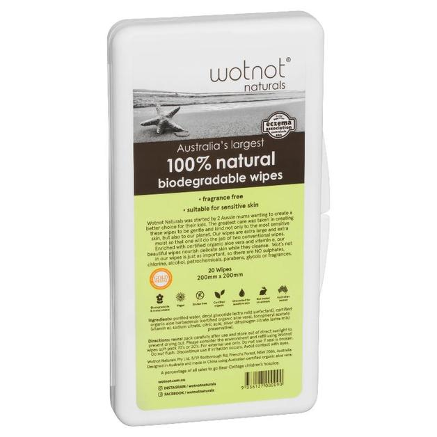 Wotnot Travel Baby Wipes with Hard Case Pack of 20