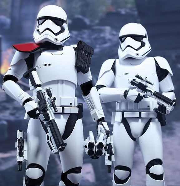 "Star Wars: The Force Awakens - 12"" First Order Officer & Stormtrooper Figure Set"