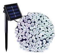 Solar String Lights - 400 LED Cool White Fairy Lights image