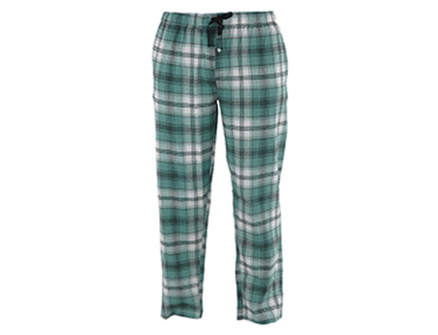 Hello Mello: Mens Plaid Pants - Green (X-Large)