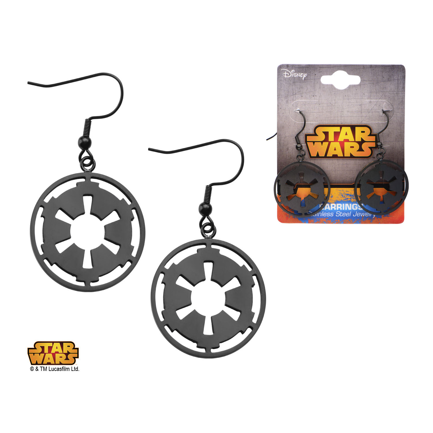 Star Wars Imperial Symbol Earrings image
