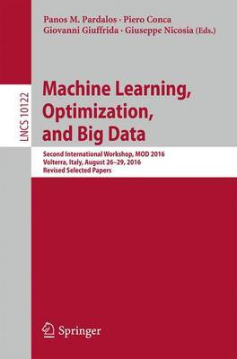 Machine Learning, Optimization, and Big Data image