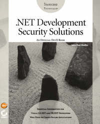 NET Development Security Solutions by John Paul Mueller