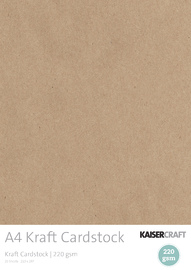 Kaisercraft Kraft Cardstock - A4 20sheets (220gsm)