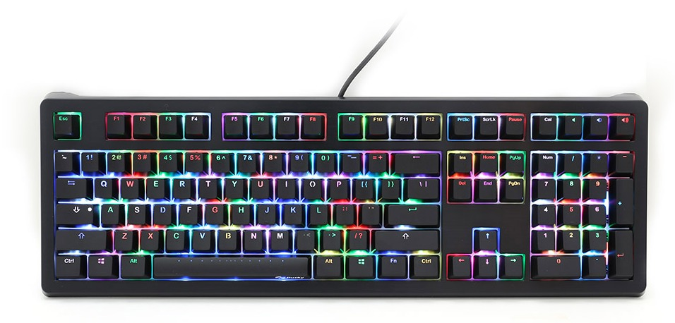 ducky shine 5 rgb led mechanical keyboard cherry mx brown at