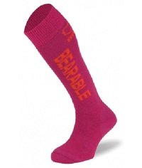 BRBL: Vancouver Kids Fuchsia Ski Socks - 2pk (Medium)