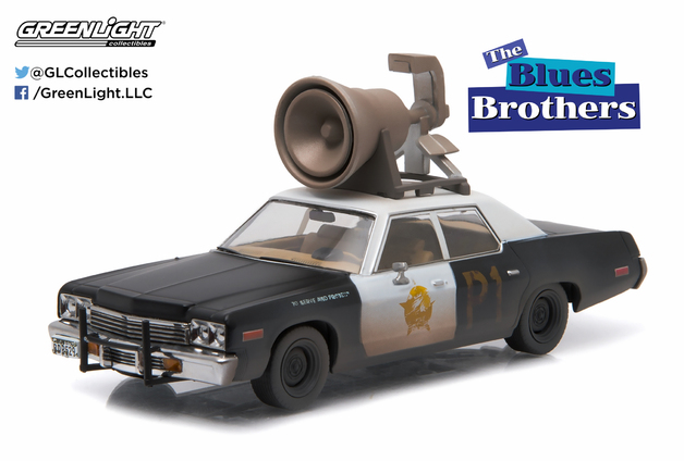 "1/43: Dodge Monaco ""Bluesmobile"" with Roof Horn - Diecast Model"