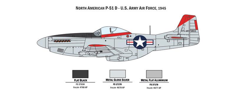 Italeri 1/72 War Thunder Combo P47N/P51D - Model Kit image