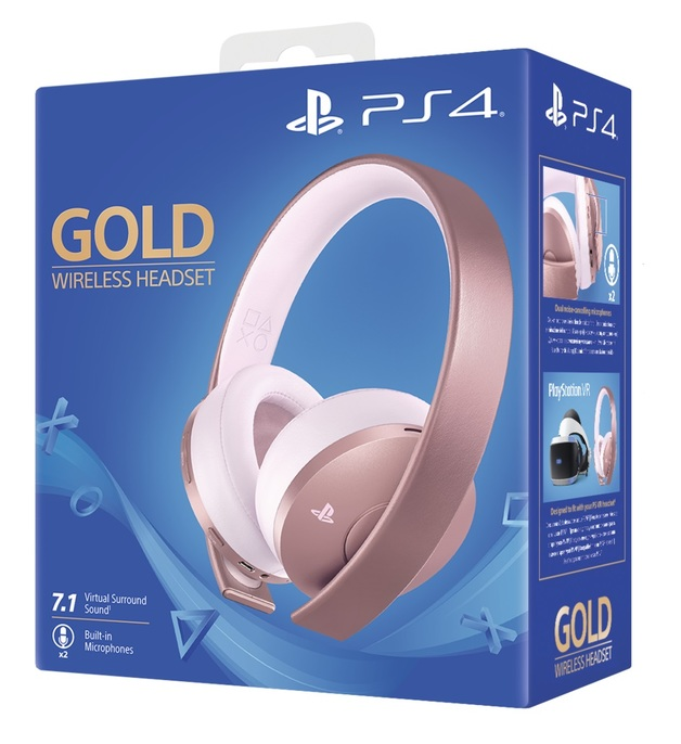 PlayStation Gold Wireless 7.1 Gaming Headset - Rose for PS4
