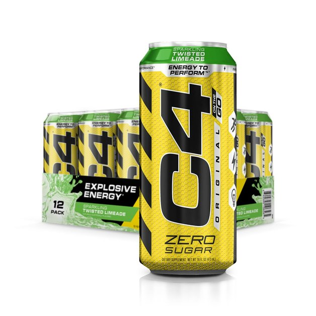 Cellucor: C4 Carbonated On-The-Go RTD - Twisted/Limeade (473ml)