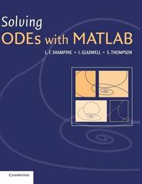 Solving ODEs with MATLAB by L F Shampine