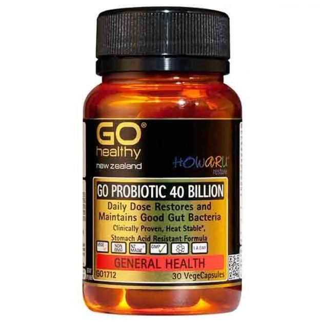 Go Healthy: GO Probiotic 40 Billion (30 Capsules)