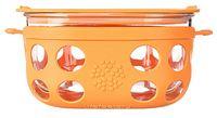 Lifefactory: Glass Food Storage - 4 Cup (Orange)
