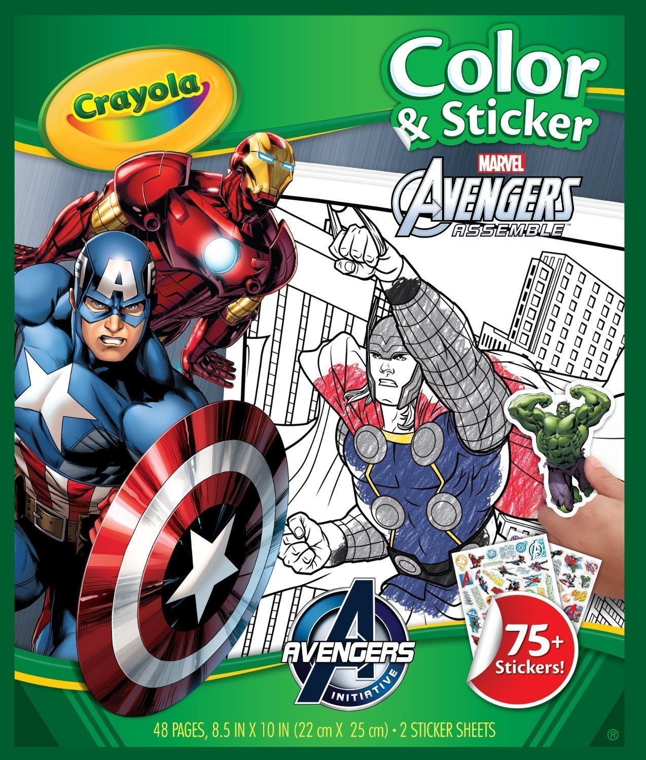 Colour & Sticker Book Avengers - Crayola image