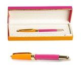 Kate Spade Ballpoint Pen - Handwritten Note (Orange/Pink)