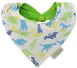 Silly Billyz Towel Bandana Bib (Dino Lime)