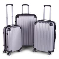 Milano Slim Line Luggage - Silver (3Pcs/Set)
