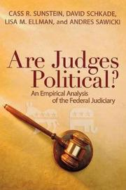 Are Judges Political? by Cass R Sunstein
