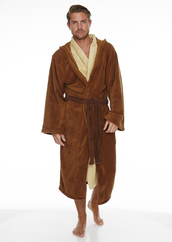 Star Wars: Jedi Outfit Fleece Robe - Brown & Cream Men's (One Size)