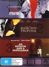Fatal Attraction / Indecent Proposal / An Officer & A Gentleman Triple Pack (3 Disc Box Set) on DVD