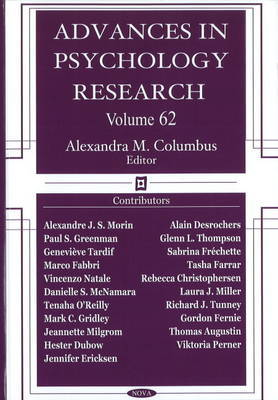 Advances in Psychology Research image