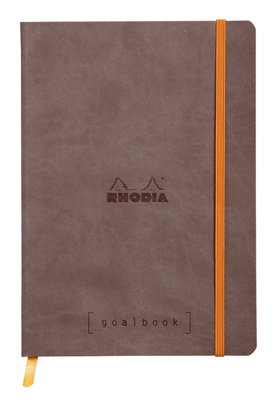 Rhodiarama A5 Goalbook Dot Grid - Chocolate
